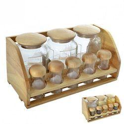 Pojemniki do przyprawy z drewnianą półką, z kategorii Pojemniki na przyprawy