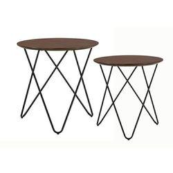 Zestaw stolików TAKING dąb - MDF fornirowany, metal, 1905 (12214413)