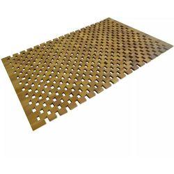 vidaXL Mata łazienkowa, drewno akacjowe, 80x50 cm, mozaika