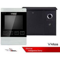 Vidos Zestaw jednorodzinny wideodomofonu. skrzynka na listy z wideodomofonem. monitor 4,3'' s551-skn_m904s