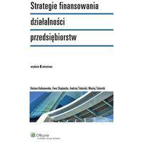 Strategie finansowania działalności przedsiębiorstw [PRZEDSPRZEDAŻ] (188 str.)