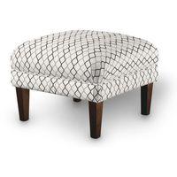 Dekoria Podnóżek do fotela, szaro-czarne fale na białym tle, 56x56x40 cm, Geometric