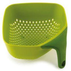 Joseph joseph Mały, kwadratowy durszlak z silikonową rączką jj 40046 zielony plus (5028420400465)