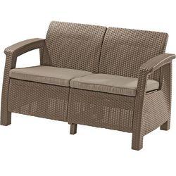 Sofa ogrodowa KETER 17197359 Corfu Love Seat cappuccino + DARMOWY TRANSPORT!, 227644 (11880202)