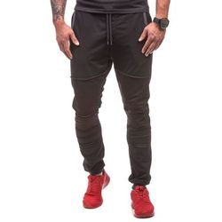 Spodnie męskie dresowe ATHLETIC 0469 czarne - CZARNY