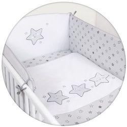 Ceba Baby Zestaw pościeli 3 elementy Gwiazdki Szare (5907672317922)