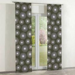 Dekoria zasłony panelowe 2 szt., ciemno oliwkowa zieleń z białymi kołami, 60 × 260 cm, freestyle do -30%