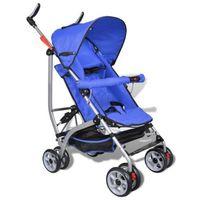 Vidaxl  wózek spacerowy dziecięcy, składany, 5 pozycji niebieski (8718475852346)