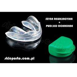 Bruksizm szyna nagyzowa + pudełko ochronne - elastyczny aparat dontyczny - ortho wyprodukowany przez Orto