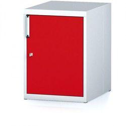 B2b partner Kontener nechanic z drzwiami, szary/czerwony