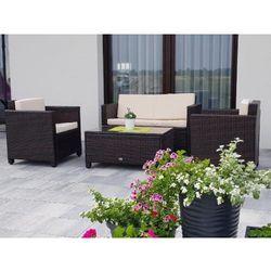 Zestaw ogrodowy calmo brązowy technorattan marki Bello giardino