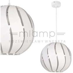 LAMPA wisząca GLOBUS SKOS 31002 Sigma ażurowa OPRAWA metalowa ZWIS kula ball z wycięciami biała