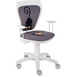 Obrotowe krzesło dziecięce ministyle white - kot i mysz marki Nowy styl