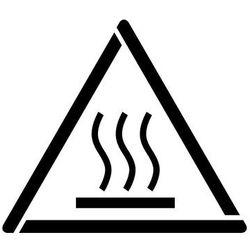 Szablon do malowania znak ostrzeżenie przed gorącą powierzchnią gw017 - 17x20 cm marki Szabloneria