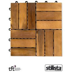 11 sztuk drewniane płytki panele tarasowe balkon marki Stilista ®