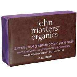 John Masters Mydło nawilżające: Lawenda, Róża, Geranium & Ylang Ylang - 128g, kup u jednego z partner