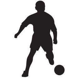 Szabloneria Szablon malarski, wielorazowy, wzór sport 4 - piłkarz z piłką
