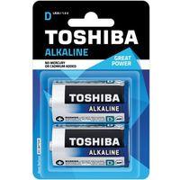 TOSHIBA Bateria Alkaline D R20 LR20 TOSHIBA LR20 ALKALINE R20 D z kategorii Latarki