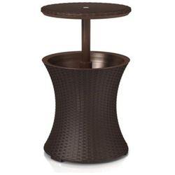 Keter cool bar składany stolik tarasowy z pojemnikiem na lód brązowy marki Curver