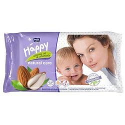 Chusteczki nasączone Bella Baby Happy NATURAL CARE migdałowe 56 szt.