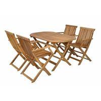 Hecht czechy Hecht basic set 4 meble ogrodowe zestaw mebli ogrodowych stół + 4 krzesła drewno akacja - ewim