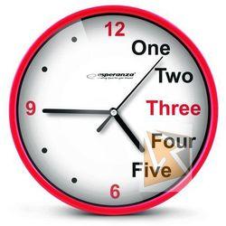 Esperanza zegar ścienny prague czerwony darmowa dostawa do 400 salonów !!