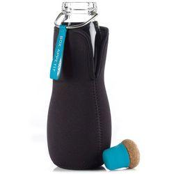 Butelka na wodę z filtrem eau good szklana niebieska marki Black+blum
