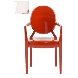 Krzesło Lou Lou Ghost różowe (8034105782327)