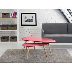 stolik - dwuczęściowy - FLY - czerwony