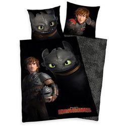 Dziecięca pościel bawełniana jak wytresować smoka, dragons, 140 x 200 cm, 70 x 90 cm marki Herding