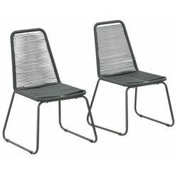 Zestaw polirattanowych krzeseł ogrodowych - zaya marki Elior