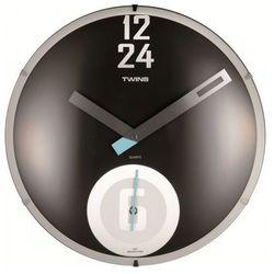 Twins 351 zegar ścienny czarny, kolor czarny