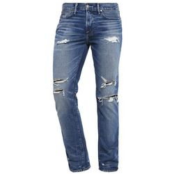 Abercrombie & Fitch SLIM STRAIGHT Jeansy Straight leg medium destroyed, KI131-6131