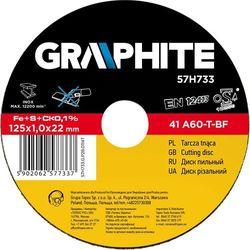 Tarcza do cięcia GRAPHITE 57H733 125 x 1.0 x 22.2 mm do metalu Inox - produkt dostępny w ELECTRO.pl
