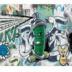 Consalnet Fototapeta uliczny styl – graffiti – zielony 1396