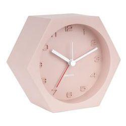 :: budzik hexagon concrete różowy - różowy marki Karlsson