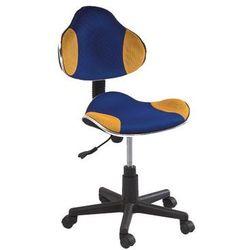 Signal meble Fotel q-g2 niebieski żółty