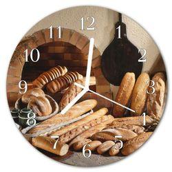 Zegar ścienny okrągły Chleb