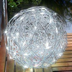 Esotec Zewn. lampa dekoracyjna led solar alu-wireball (4260057864109)