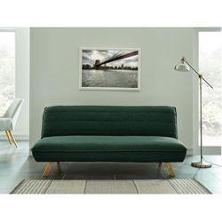 3-osobowa kanapa z prostym mechanizmem rozkładania z tkaniny LANTANA - Kolor: zielony świerk, kolor zielony