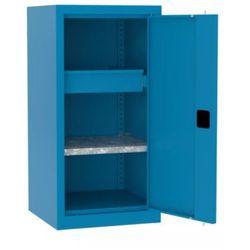 Metalowa szafka warsztatowa smd515/2 polka i szuflada niska 100cm marki Malow