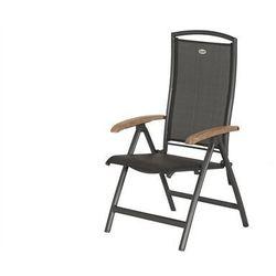 Krzesło ogrodowe w kolorze xerix/black grey | Raffaelo | podłokietniki z drewna tekowego
