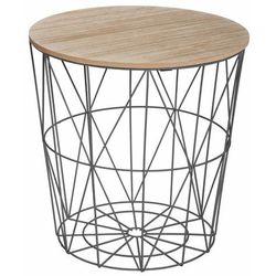 Atmosphera créateur d'intérieur Stolik kawowy z płyty mdf i metalu, solidna konstrukcja, okrągły, nowoczesny design, brązowo-czarny, stolik do kawy, (3560239290056)