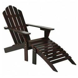 Drewniane krzesło ogrodowe falcon - brązowe marki Elior
