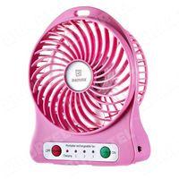 Remax  bezprzewodowy mini wentylator wiatrak na biurko różowy - różowy, kategoria: gadżety