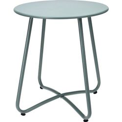 Metalowy stolik do ogrodu w zielonym kolorze, solidny mebel ogrodowy lub praktyczny stolik na balkon (8719202928990)