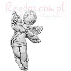 Sztukateria betonowa motyw aniołek ze szkrzypcami 25cm