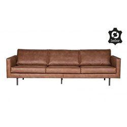 Sofa skórzana duża rodeo - różne kolory koniakowy marki Be pure