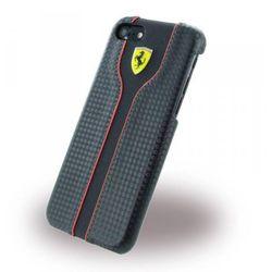 FERRARI HARDCASE RC - Etui Skórzane iPhone 7 (czarny) z kategorii Futerały i pokrowce do telefonów