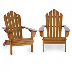 Blumfeldt Vermont Krzesło ogrodowe 2 sztuki styl Adirondack drewno świerkowe kolor brązowy